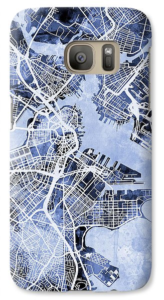 Boston Massachusetts Street Map Galaxy S7 Case