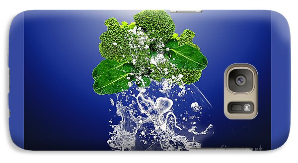 Broccoli Splash Galaxy Case by Marvin Blaine