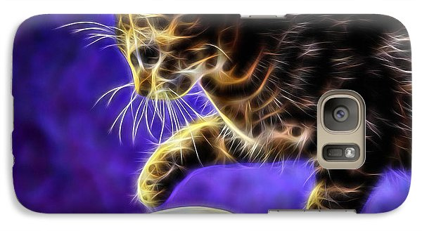 Cat Got The Mouse Galaxy Case by Marvin Blaine