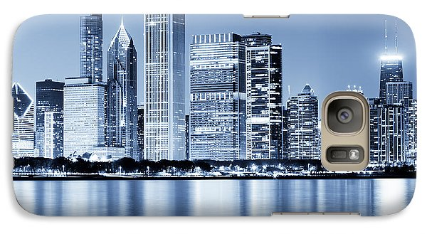 Chicago Skyline At Night Galaxy S7 Case