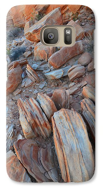 Galaxy Case featuring the photograph Colorful Cove In Valley Of Fire by Ray Mathis