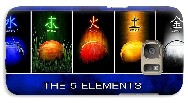 Galaxy Case featuring the digital art Asian Art 5 Elements Of Tcm by John Wills