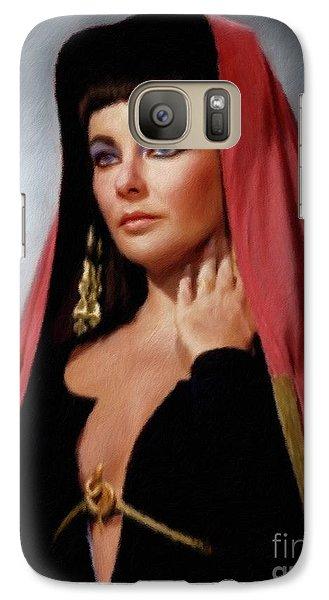 Elizabeth Taylor, Vintage Actress Galaxy S7 Case