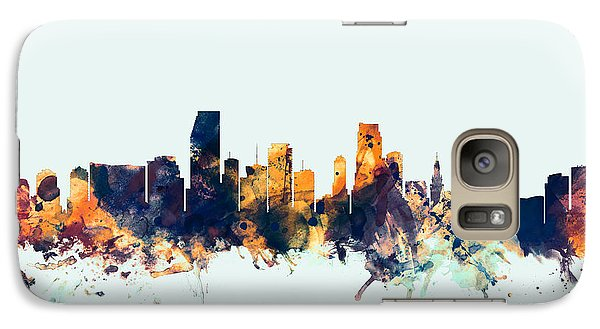 Miami Florida Skyline Galaxy S7 Case by Michael Tompsett