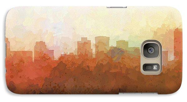 Galaxy Case featuring the digital art Norfolk Virginia Skyline by Marlene Watson