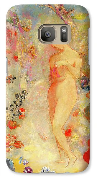 Galaxy Case featuring the painting Pandora by Odilon Redon