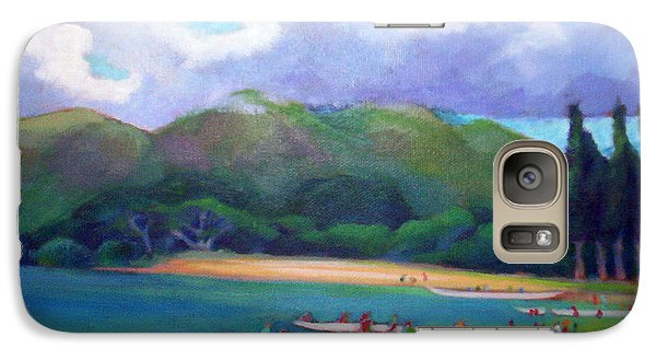Galaxy Case featuring the painting 5 P.m. Canoe Club by Angela Treat Lyon