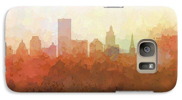 Galaxy Case featuring the digital art Providence Rhode Island Skyline by Marlene Watson