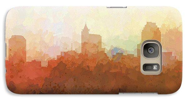Galaxy Case featuring the digital art Raleigh North Carolina Skyline by Marlene Watson