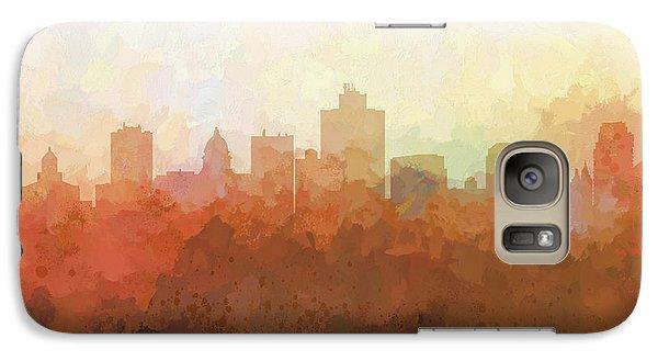 Galaxy Case featuring the digital art Salt Lake City Utah Skyline by Marlene Watson