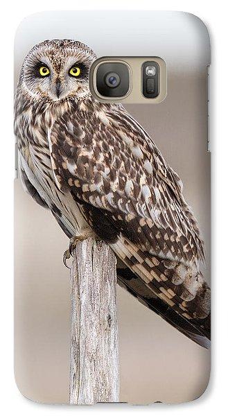Short Eared Owl Galaxy S7 Case