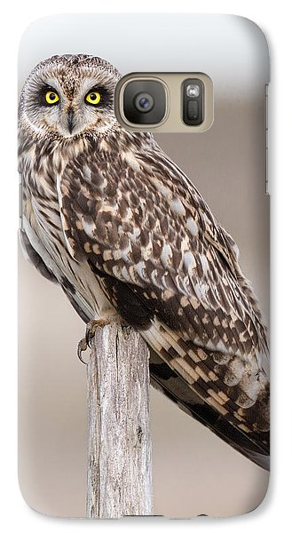 Short Eared Owl Galaxy S7 Case by Ian Hufton