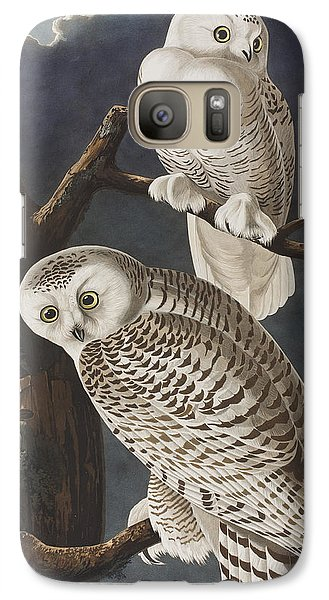Snowy Owl Galaxy Case by John James Audubon