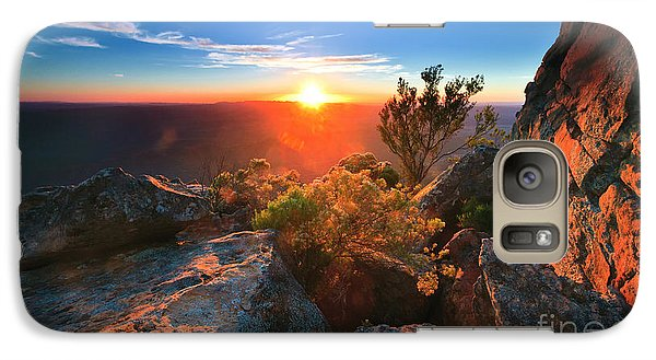 Galaxy Case featuring the photograph St Mary Peak Sunrise by Bill  Robinson