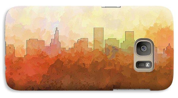 Galaxy Case featuring the digital art St Paul Minnesota Skyline by Marlene Watson