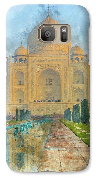 Taj Mahal In Agra India Galaxy S7 Case