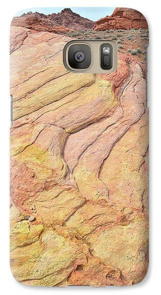 Galaxy Case featuring the photograph Waves Of Color In Valley Of Fire by Ray Mathis