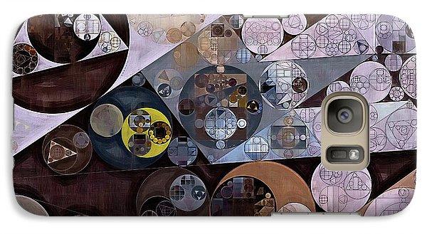Galaxy Case featuring the digital art Abstract Painting - Zinnwaldite Brown by Vitaliy Gladkiy