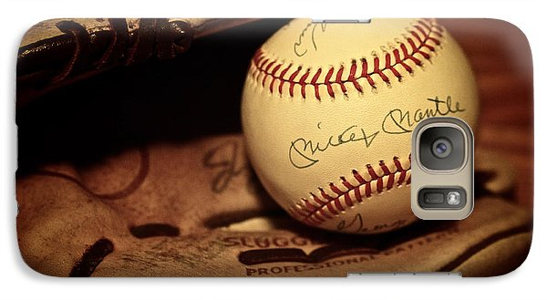 Galaxy Case featuring the photograph 50 Home Run Baseball by Mark Miller