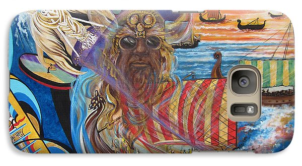 Galaxy Case featuring the painting 500 Empires Never Die - Odin by Sigrid Tune