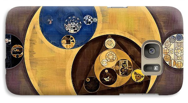 Galaxy Case featuring the photograph Abstract Painting - Zinnwaldite Brown by Vitaliy Gladkiy