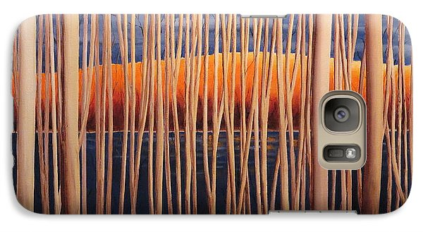 Galaxy Case featuring the painting 54 Trees by Jo Appleby