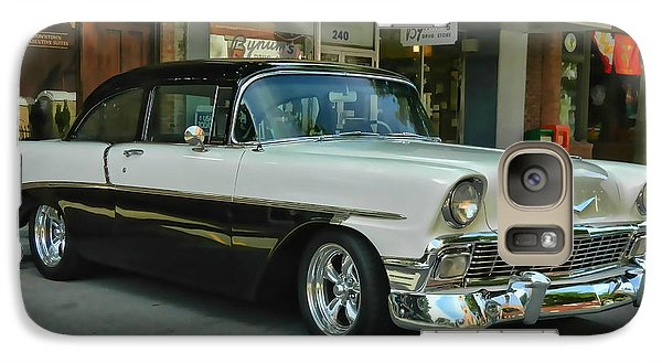 Galaxy Case featuring the photograph '56 Chevy Hot Rod by Victor Montgomery