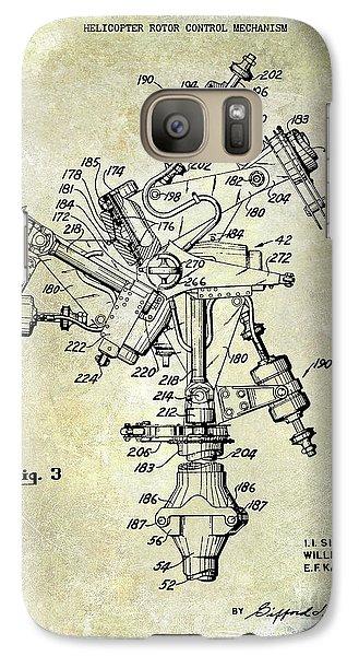1950 Helicopter Patent Galaxy S7 Case by Jon Neidert