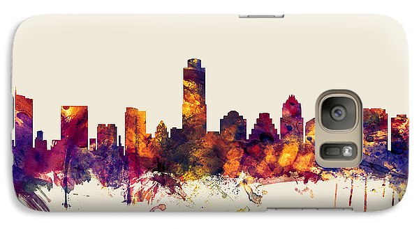 Austin Texas Skyline Galaxy S7 Case by Michael Tompsett
