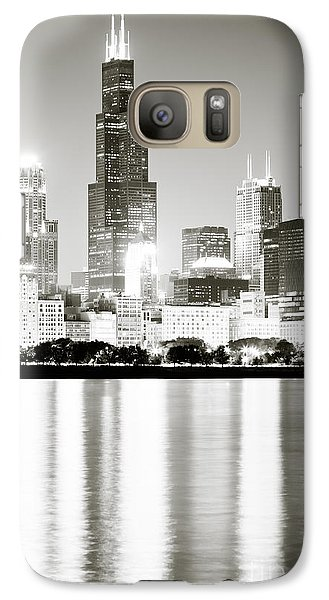 Chicago Skyline At Night Galaxy Case by Paul Velgos
