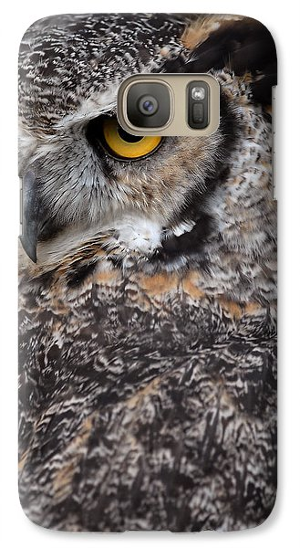 Galaxy Case featuring the photograph Great Horned Owl by JT Lewis