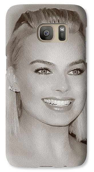 Orlando Bloom Galaxy S7 Case - Hollywood Star Margot Robbie by Elizabeth Simon