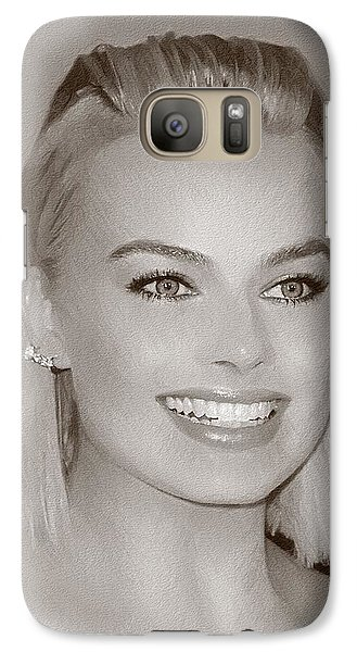 Hollywood Star Margot Robbie Galaxy S7 Case by Best Actors