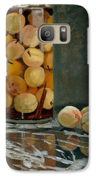 Jar Of Peaches Galaxy S7 Case by Claude Monet