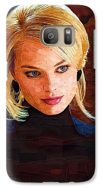 Margot Robbie Painting Galaxy S7 Case by Best Actors