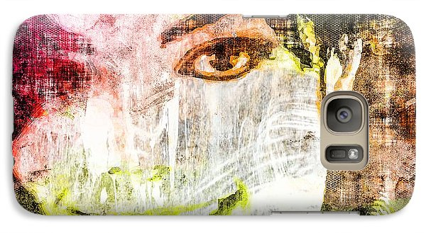 Galaxy Case featuring the mixed media Michael Jackson by Svelby Art