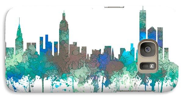 Galaxy Case featuring the digital art New York Ny Skyline by Marlene Watson