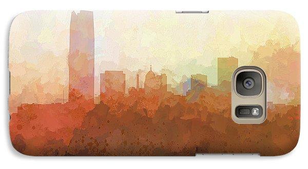 Galaxy Case featuring the digital art Oklahoma City Oklahoma Skyline by Marlene Watson