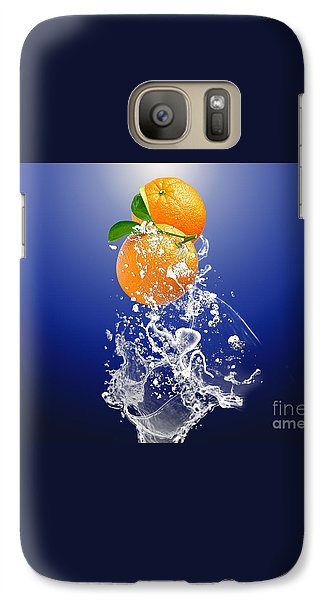 Orange Splash Galaxy S7 Case by Marvin Blaine