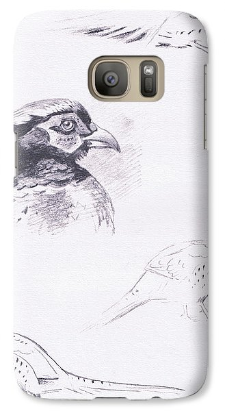 Pheasants Galaxy Case by Archibald Thorburn