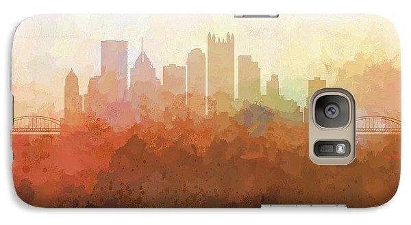 Galaxy Case featuring the digital art Pittsburgh Pennsylvania Skyline by Marlene Watson
