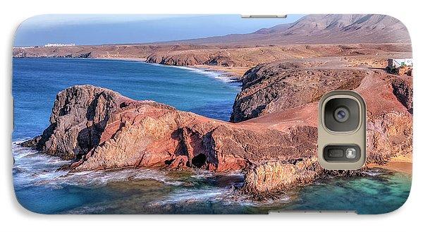 Playa Papagayo - Lanzarote Galaxy Case by Joana Kruse