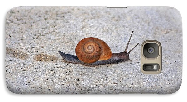 Galaxy Case featuring the photograph 6- Snail by Joseph Keane