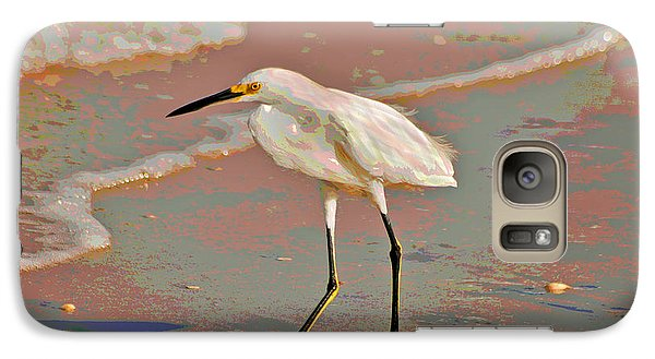 Galaxy Case featuring the photograph 6- Snowy Egret by Joseph Keane