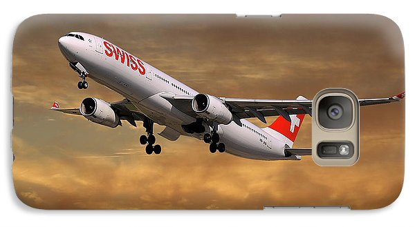 Jet Galaxy S7 Case - Swiss Airbus A330-343 by Smart Aviation