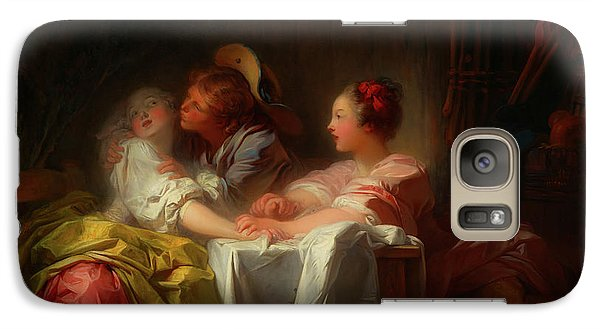 Galaxy Case featuring the painting The Stolen Kiss by Jean-Honore Fragonard