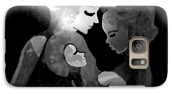 Galaxy Case featuring the digital art 826 - The Child by Irmgard Schoendorf Welch