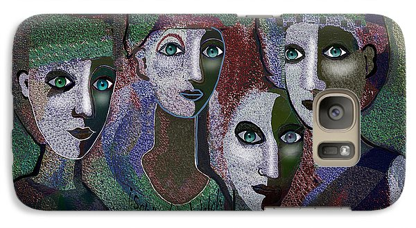 Galaxy Case featuring the digital art 649 - Gauntly Ladies by Irmgard Schoendorf Welch