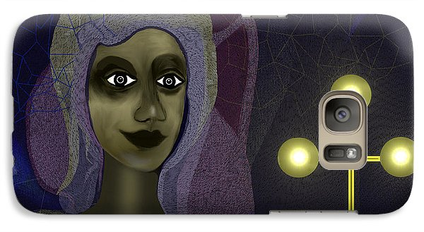 Galaxy Case featuring the digital art 673 - Young Lady With Cross by Irmgard Schoendorf Welch
