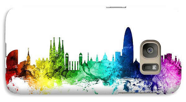Barcelona Spain Skyline Galaxy S7 Case by Michael Tompsett